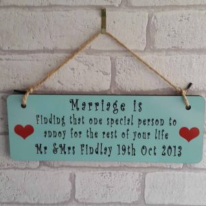 Wedding/Marriage sign