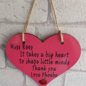 Teacher's heart sign