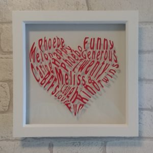 Heart Shaped Word Cloud
