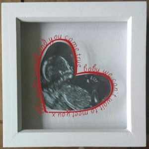 Heart-shaped Baby Scan Photo Frame