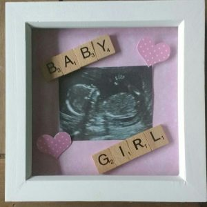 Scrabble Baby Scan Photoframe