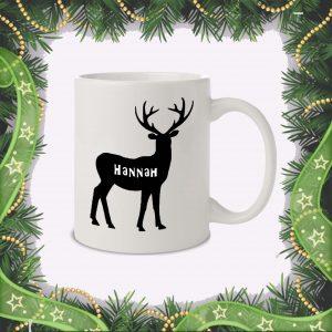 Deer+Name Mug