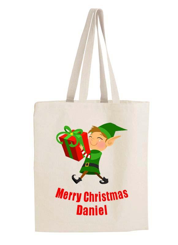 Elf Christmas Gift Bags.Christmas Gift Bag