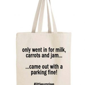 Parking ticket shopping bag