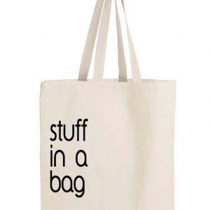Stuff in a bag, bag.