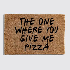 Friends Pizza Doormat