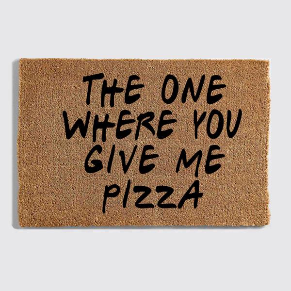 friends pizza doormat