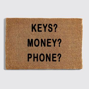 Keys Money Phone doormat