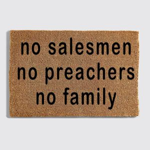No Salesmen doormat