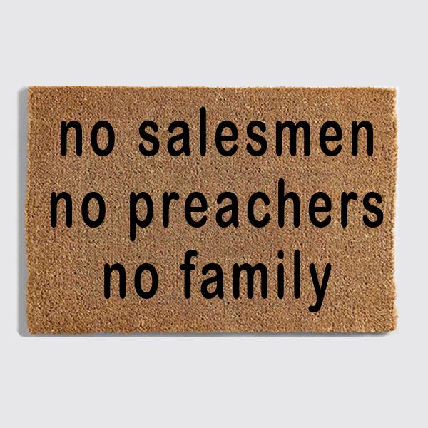 No Salesmen doormat