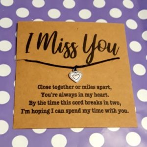 I Miss You wish bracelet Free UK Postage